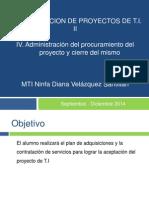 Administracion Del Procuramiento Del Proyecto y Cierre Del Mismo