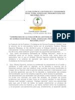 COMUNICADO DE LA COALICIÓN DE LOS PUEBLOS Y CIUDADANOS DE GUINEA ECUATORIAL CEIBA, ACERCA DEL PRESUNTO DIÁLOGO NACIONAL/2014