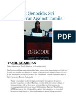 Gendered Genocide Sri Lanka's War Against Tamils