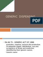 Generic Dispensing