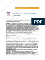 009 Educación y Ética Para Una Ciudadanía Cosmopolita GHoyos Rev IberoAmericana