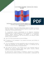 Declaración institucional de Êtômbâ â Ndôwé de cara al fraude circense, tras el parapeto de Diálogo Nacional.