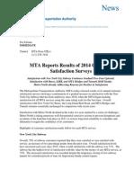 Metro-North 2014 Customer Satisfaction survey