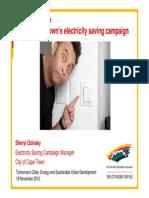 14 - Cape Town's Electricity Saving Campaign (Sheryl Ozinsky)