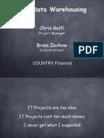 Country Financial Agile Data Warehousing