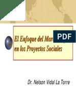 El Enfoque Del Marco Logico en Los Proyectos Sociales