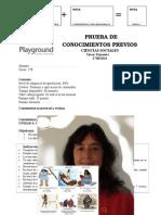 Prueba Conocimientos Previos Ciencias Sociales 1º (Unidad 4)