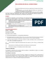 Detalle de Especificaciones Tecnicas Sector Salud
