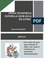 Crisis Económica Española 2008-2014 en Cifras