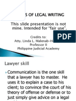Legal Ethics in Writing