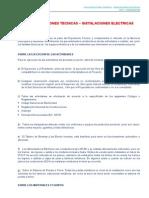 Detalle de Especificaciones Tecnicas Instalaciones Electricas Sector Salud