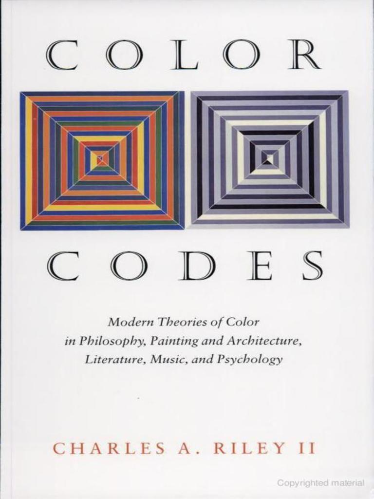 Color codes modern theories of color in philosophy painting and color codes modern theories of color in philosophy painting and architecture literature music and psychology color paintings fandeluxe Choice Image