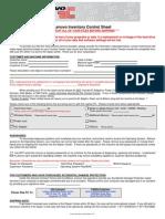 Lenovo Inventory Control Sheet PDF