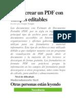 Cómo Crear Un PDF Con Campos Editables