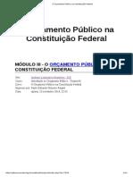O Orçamento Público Na Constituição Federal