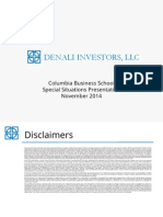 Denali Investors - Columbia Business School Presentation 2014.11.11 - Final - Public