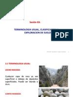 Sesión 03 Terminología Usual, Clasificación y Exploración de Suelos