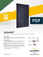 Sunmodule Solar Panel 240 Mono Black Ds