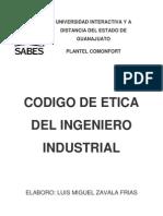 CODIGO DE ETICA DEL INGENIERO INDUSTRIAL