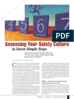 Assessing Your Safety Culture in Seven Simple Steps