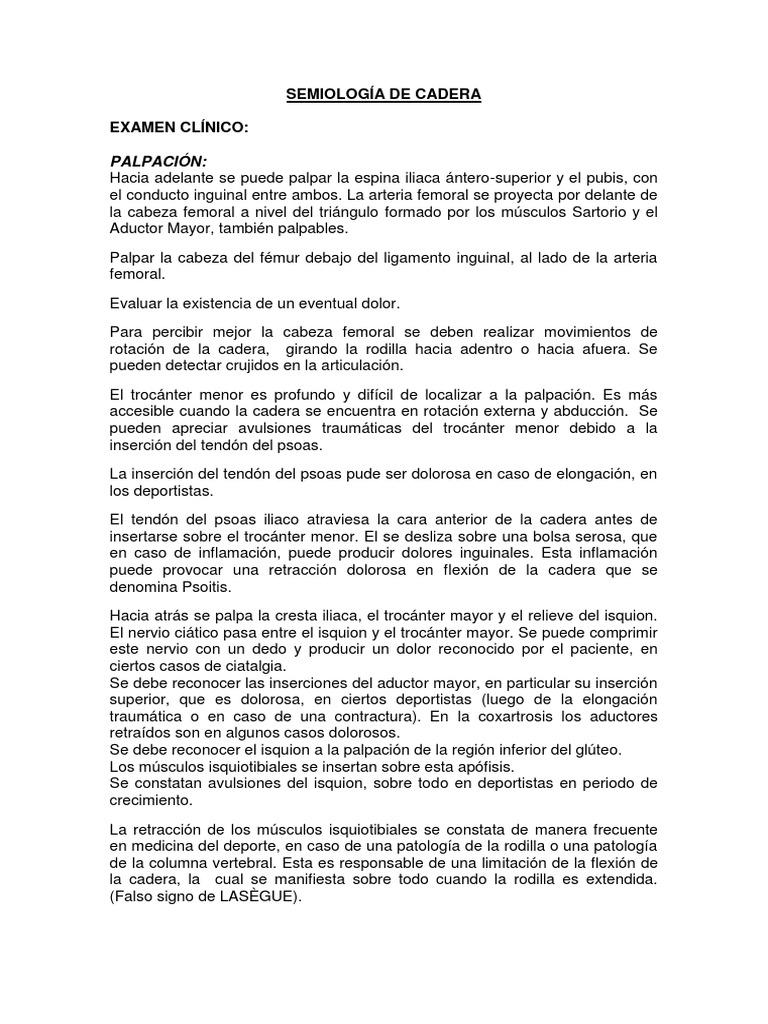 Semiología de Cadera