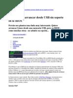 Arrancar Dessde Boot Con USB