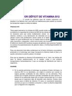 Anemia por déficit de vitamina B12