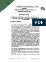 Informe 10 de Lab de Quimica