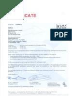 KEMA KEUR  Certification