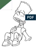 Bart Para Colorear