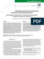 Tratamiento Interdisciplinario Prótesis Bucal-periodoncia de Paciente Con Periodontitis Agresiva
