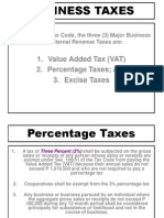 Other Percentage Taxes