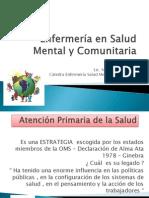 Enfermería en Salud Mental y Comunitaria