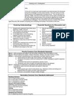 kindergarten literacy unit plan 2