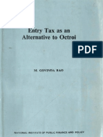 Entry Tax as an Alternative to Octroi