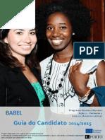 BABEL Guidelines for Applicants 3rd Cohort PT