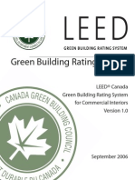 Green Building Rating System for Comm. Interiors