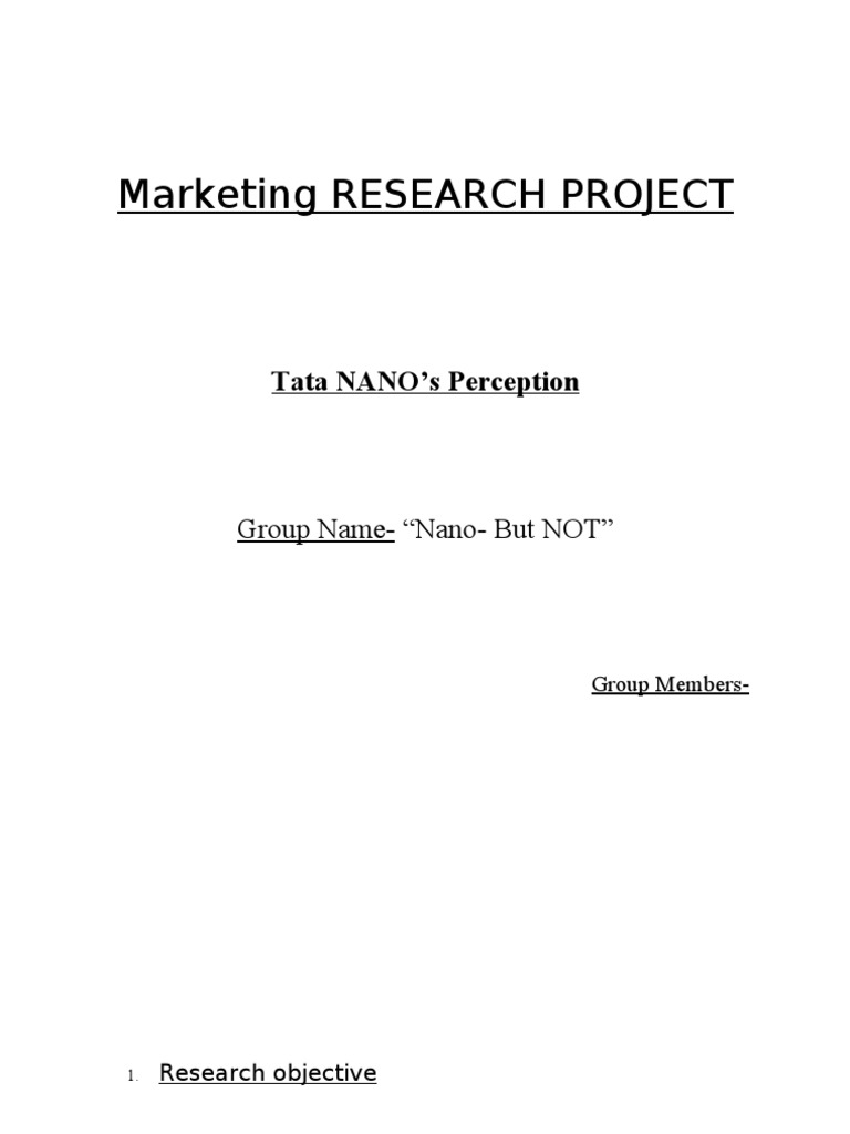 Research proposal on marketing