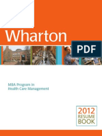 Resume Book 2012