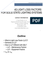 Calculating Light Loss Factors for LED Lighting System