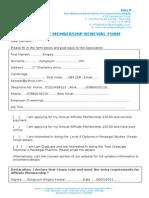 Affiliate Membership Renewal Form