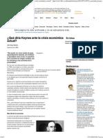 BBC Mundo - Noticias - ¿Qué Diría Keynes Ante La Crisis Económica Actual