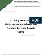 Caos y Orden en El Sistema Mundo Moderno de Giovanni Arrighi y Beverly Silver a24519