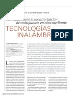Prevención Laboral Mediante Tecnologías Inalámbricas