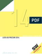 SWR Pricelist 2014