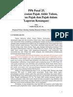 PPh Ps 25 Penyelesaian Pajak Akhir Tahun, Angsuran Pajak & Pajak Dalam LK