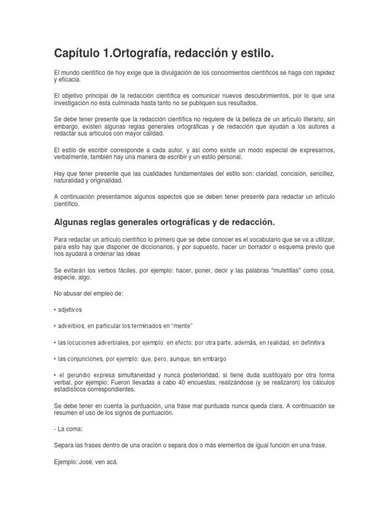 Redaccion, y Tipos de Documentos