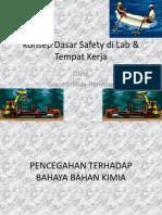 K3 Konsep Dasar Safety di Lab dan Tempat Kerja