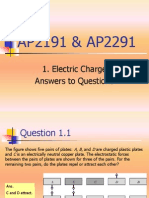 1 Electric Charge Answers