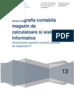 Monografie Contabila - Magazin de Calculatoare Si Sisteme Informatice